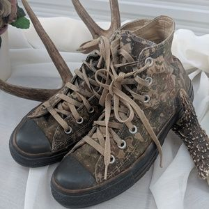 Converse Distressed Camouflage Sneakers